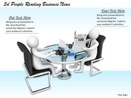 3d People Reading Business News Ppt Graphics Icons Powerpoint