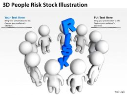 3D People Risk Stock Illustration Ppt Graphics Icons