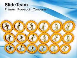 3d People Running In Gear Wheels PowerPoint Templates PPT Themes And Graphics 0213