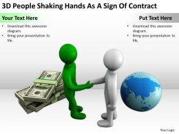3D People Shaking Hands As A Sign Of Contract Ppt Graphics Icons PowerPoint