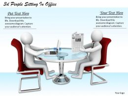 3d People Sitting In Office Ppt Graphics Icons Powerpoint