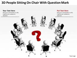 3D People Sitting On Chair With Question Mark Ppt Graphic Icon