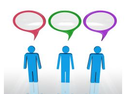 3d People With Speech Bubbles To Express Views Stock Photo