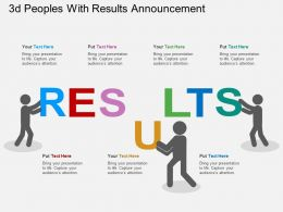 3d Peoples With Results Announcement Flat Powerpoint Design