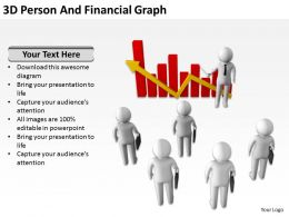3D Person And Financial Graph Ppt Graphics Icons Powerpoint