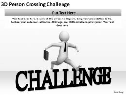 3D Person Crossing Challenge Ppt Graphics Icons PowerPoint