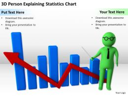 3D Person Explaining Statistics Chart Ppt Graphics Icons PowerPoint