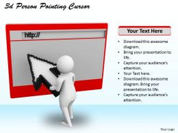 3d Person Pointing Cursor Ppt Graphics Icons Powerpoint