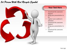 3d Person With Red Recycle Symbol Ppt Graphics Icons Powerpoint