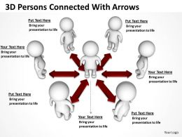 3D Persons Connected With Arrows Ppt Graphics Icons