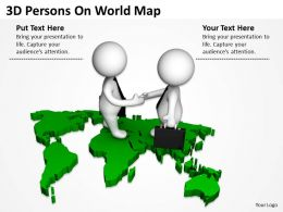3D Persons On World Map Ppt Graphics Icons Powerpoint