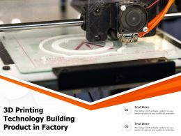 3D Printing Technology Building Product In Factory