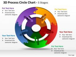 3d process circle chart 5 stages powerpoint templates graphics slides 0712