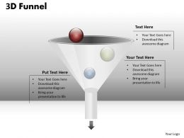 3D Process Funnel Diagram