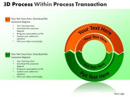 3D Process Within Process Transaction Powerpoint Slides And Ppt Templates DB