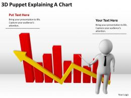 3D Puppet Explaining A Chart Ppt Graphics Icons PowerPoint