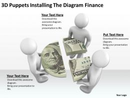 3D Puppets Installing The Diagram Finance Ppt Graphics Icons Powerpoint