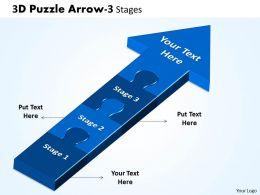 3D Puzzle Arrow 3 Stages 3