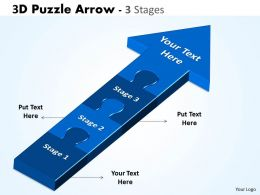 3D Puzzle Arrow 3 Stages