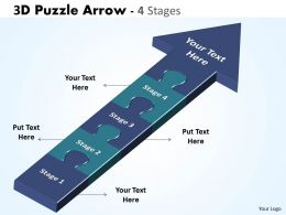 3D Puzzle Arrow 4 Stages