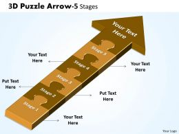 3D Puzzle Arrow 5 Stages 15
