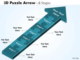 3D Puzzle Arrow 6 Stages
