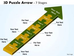 3D Puzzle Arrow 7 Stages
