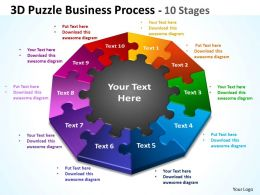 3D Puzzle Business Process 10 Stages 1