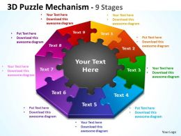 3D Puzzle diagram Mechanism 9 Stages 1