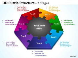 3D Puzzle diagram Structure 7 Stages 3