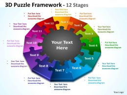 3D Puzzle Framework 12 Stages 1