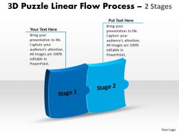 3D Puzzle Linear Flow Process 2 Stages