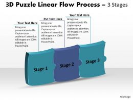 3D Puzzle Linear Flow Process 3 Stages 4