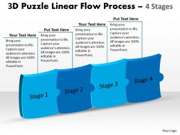 3D Puzzle Linear Flow Process 4 Stages 14