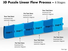 3D Puzzle Linear Flow Process 6 Stages 14