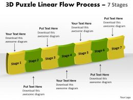 3D Puzzle Linear Flow Process 7 Stages