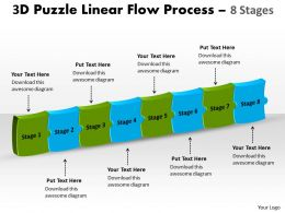 3D Puzzle Linear Flow Process 8 Stages