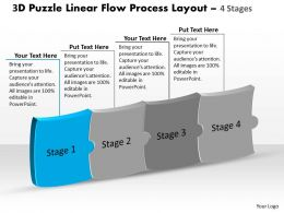 3d_puzzle_linear_flow_process_layout_4_stages_customer_tech_support_powerpoint_slides_Slide02
