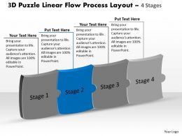 3d_puzzle_linear_flow_process_layout_4_stages_customer_tech_support_powerpoint_slides_Slide03
