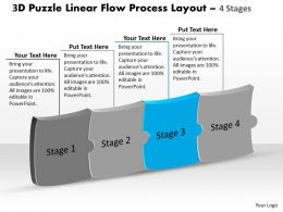 3d_puzzle_linear_flow_process_layout_4_stages_customer_tech_support_powerpoint_slides_Slide04