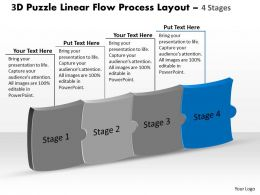 3d_puzzle_linear_flow_process_layout_4_stages_customer_tech_support_powerpoint_slides_Slide05