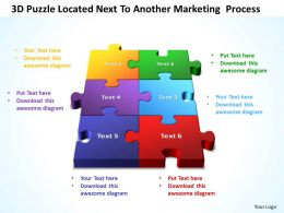 3D Puzzle Located Next To Another Marketing  Process Templates ppt presentation slides 812