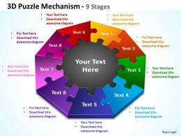 3D Puzzle Mechanism 9 Stages 2