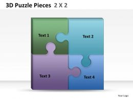 3D Puzzle Pieces 2X2 ppt 1