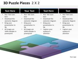 3D Puzzle Pieces 2X2 ppt 2