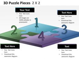 3D Puzzle Pieces 2X2 ppt 3