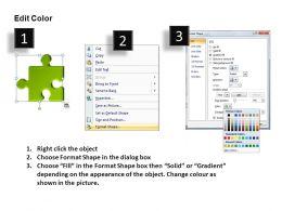 3d Puzzle Pieces In Line Powerpoint Presentation Slides