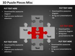 3D Puzzle Pieces Misc 1