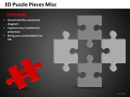 3D Puzzle Pieces Misc Powerpoint Presentation Slides DB