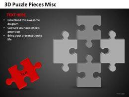 3D Puzzle Pieces Misc Powerpoint Presentation Slides DB